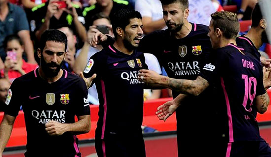 Barcelona Menang 5 – 0 Atas Sporting Gijon Meski Tanpa Lionel Messi