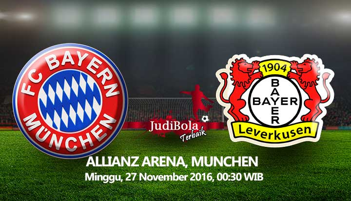 Prediksi Bayern Munich vs Bayer Leverkusen 27 November 2016